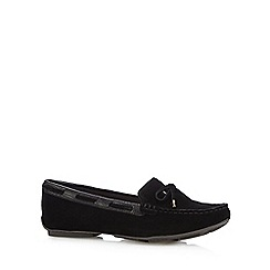 J by Jasper Conran - Designer black suede mix slip on shoes