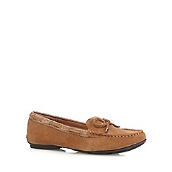 J by Jasper Conran - Designer tan suede mix slip on shoes