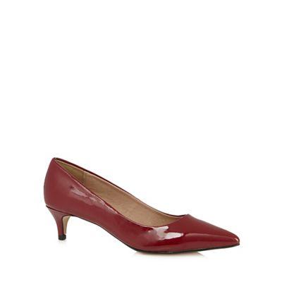 J by Jasper Conran Designer red patent mid heel court shoes