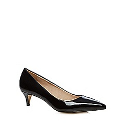 J by Jasper Conran - Designer black patent mid heel court shoes