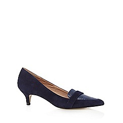 J by Jasper Conran - Designer navy leather blend mid court shoes
