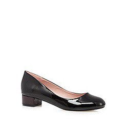J by Jasper Conran - Black patent low slip on shoes
