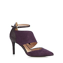 J by Jasper Conran - Designer purple suede mix mid court shoes