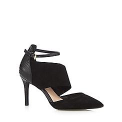 J by Jasper Conran - Designer black suede mix mid court shoes
