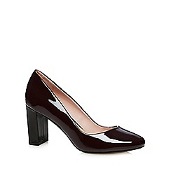 J by Jasper Conran - Designer maroon patent block high court shoes