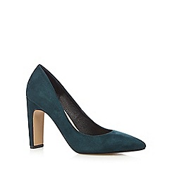 J by Jasper Conran - Dark green suedette high court shoes