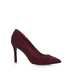 J by Jasper Conran - Designer dark red suede pointed toe court shoes