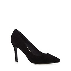 J by Jasper Conran - Designer black suede pointed toe court shoes