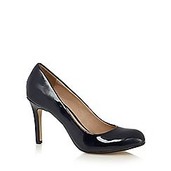 J by Jasper Conran - Designer navy patent high court shoes