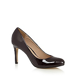 J by Jasper Conran - Designer maroon patent high court shoes