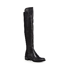 J by Jasper Conran - Black leather blend knee high boots