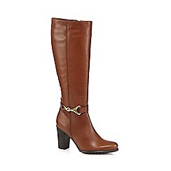 J by Jasper Conran - Tan leather snaffle buckle high leg