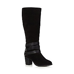 J by Jasper Conran - Black suede high leg boots