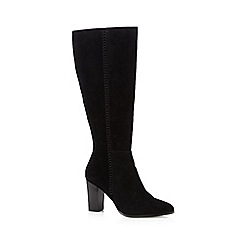 J by Jasper Conran - Black suede stitch detail knee high boots