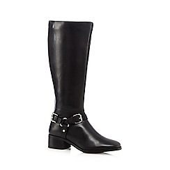 J by Jasper Conran - Black leather low heeled riding boots