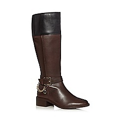 J by Jasper Conran - Dark brown leather high leg boots