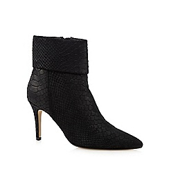 J by Jasper Conran - Black leather snakeskin-effect ankle boots