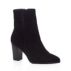 J by Jasper Conran - Black suede stitch detail ankle boots