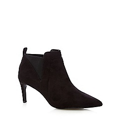 J by Jasper Conran - Black suedette pointed ankle boots