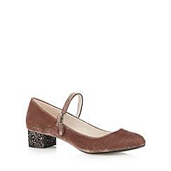 RJR.John Rocha - Designer rose velvet glitter mid court shoes