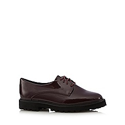 RJR.John Rocha - Dark red patent lace up shoes