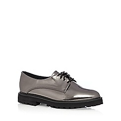 RJR.John Rocha - Silver metallic flat lace up shoes