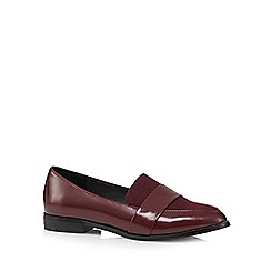 RJR.John Rocha - Red patent slip on shoes