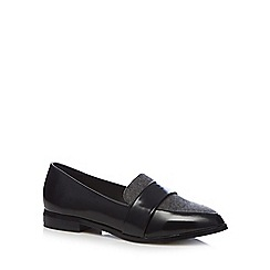 RJR.John Rocha - Black patent slip on shoes