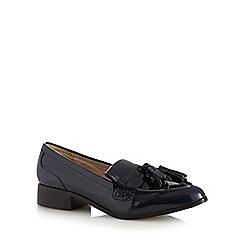 RJR.John Rocha - Navy patent tassel low slip on shoes