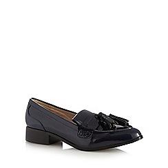 RJR.John Rocha - Navy patent tassel low slip on shoes