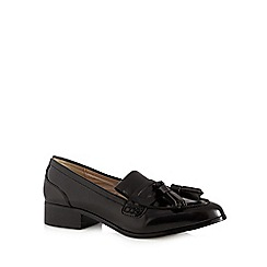 RJR.John Rocha - Black patent tassel low slip on shoes