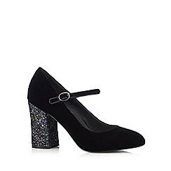 RJR.John Rocha - Designer black velvet sequin high court shoes