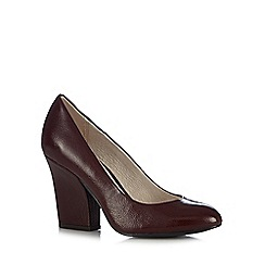 RJR.John Rocha - Designer dark red patent high court shoes