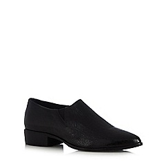 RJR.John Rocha - Designer black leather cracked low heel shoes