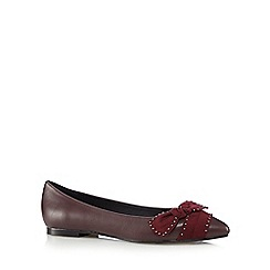 Nine by Savannah Miller - Maroon 'Sienna' flats with bow detail