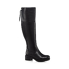 RJR.John Rocha - Black leather mid heeled high leg boots