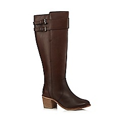 RJR.John Rocha - Dark brown two buckle knee-high boots