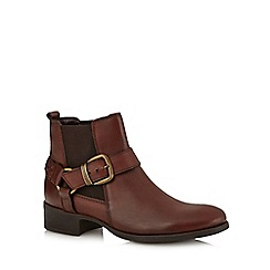 RJR.John Rocha - Brown leather buckle ankle boots