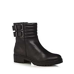 RJR.John Rocha - Designer black leather padded ankle boots