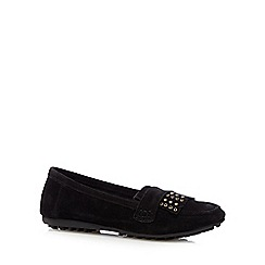 Nine by Savannah Miller - Black 'Suzie' suede loafers