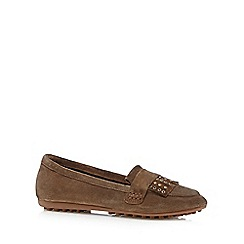 Nine by Savannah Miller - Tan 'Suzie' suede loafers