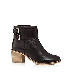 RJR.John Rocha - Brown leather buckle mid heeled ankle boots