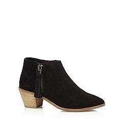 RJR.John Rocha - Designer black suede tassel ankle boots