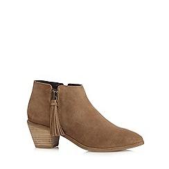 RJR.John Rocha - Designer tan suede tassel ankle boots