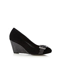 Principles by Ben de Lisi - Designer black buckle mid wedges