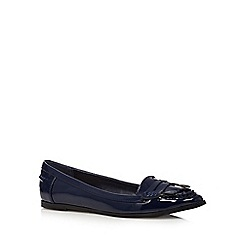 Principles by Ben de Lisi - Navy patent fringe detail shoes