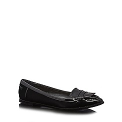 Principles by Ben de Lisi - Black patent fringe detail shoes