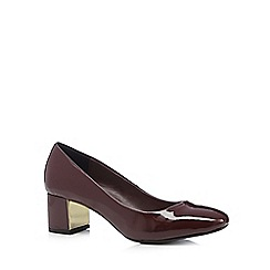Principles by Ben de Lisi - Designer dark red suedette low court shoes