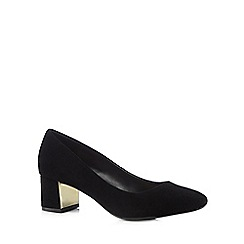 Principles by Ben de Lisi - Designer black suedette low court shoes
