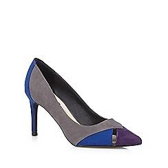 Principles by Ben de Lisi - Designer grey block colour pointed high heeled shoes